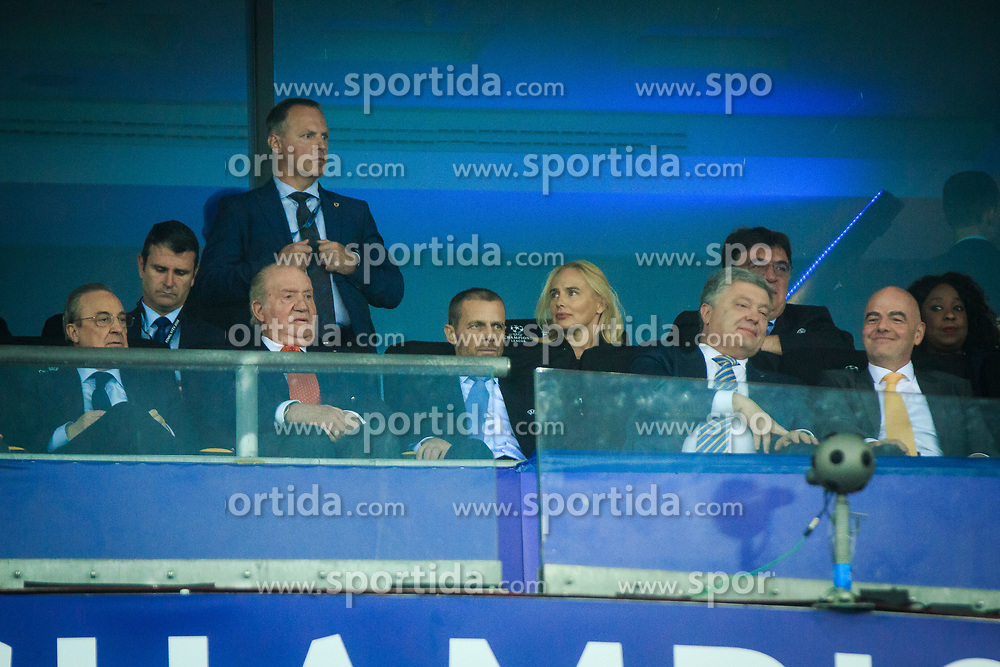 Aleksander Ceferin, president of UEFA, Gianni Infantino, president of FIFA during the UEFA Champions League final football match between Liverpool and Real Madrid at the Olympic Stadium in Kiev, Ukraine on May 26, 2018.Photo by Sandi Fiser / Sportida