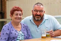 Paul, 60 and Pauline Boden, 55, from Brighton at Victoria Station in London London, September 24 2019.