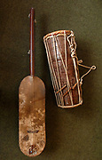 Ngoni or Hodu a kind of Lute and a talking drum