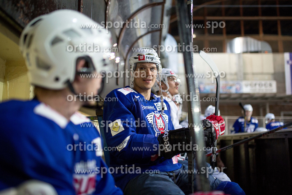 Marcel Rodman at first practice of Slovenian National Ice Hockey team before EIHC tournament in Innsbruck, on November 4, 2013 in Ledena dvorana Bled, Bled, Slovenia. (Photo by Matic Klansek Velej / Sportida.com)