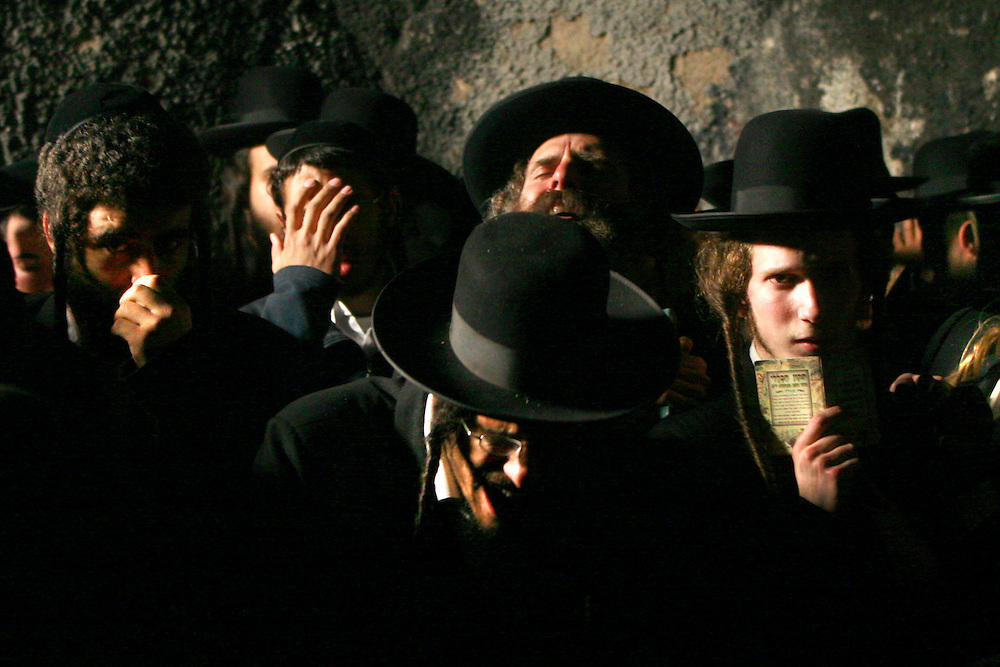Ultra-Orthodox Jews recite prayers in Joseph's Tomb in the West Bank city of Nablus May 14, 2007. The Israeli army on Monday morning allowed some 700 ultra-Orthodox Jews to visit Joseph's Tomb, a holy shrine considered by many Jews to be the burial place of the biblical patriarch. Photo by Olivier Fitoussi /Flash90