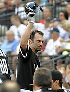 CHICAGO - JUNE 21:  Paul Konerko #14 of the Chicago White Sox tips his cap to the crowd after hitting a solo home run in the second inning off of Matt Garza #17 of the Chicago Cubs on June 21, 2011 at U.S. Cellular Field in Chicago, Illinois.  Konerko has hit a home run in 5 straight games. (Photo by Ron Vesely)  Subject:  Paul Konerko;Matt Garza