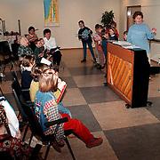 Repetitie van koor Jong Holland