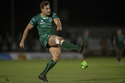 November 3, 2018 - Galway, Ireland - David Horwitz of Connacht kicks a conversion during the Guinness PRO14 match between Connacht Rugby and Dragons at the Sportsground in Galway, Ireland on November 3, 2018  (Credit Image: © Andrew Surma/NurPhoto via ZUMA Press)