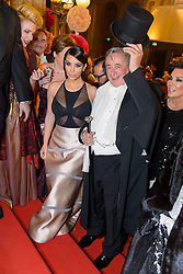 61147050<br /> (L-R) Kim Kardashian with Richard LUGNER  and her mother Kris Jenner attend the traditional Vienna Opera Ball (Wiener Opernball), Vienna State Opera, Vienna, Austria, Thursday, 27th February 2014. Picture by  imago / i-Images<br /> UK ONLY