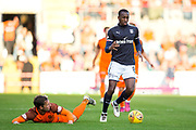 Dundee midfielder Glen Kamara (#8) fouls Dundee United forward Scott McDonald (#8) during the Betfred Scottish Cup match between Dundee and Dundee United at Dens Park, Dundee, Scotland on 9 August 2017. Photo by Craig Doyle.