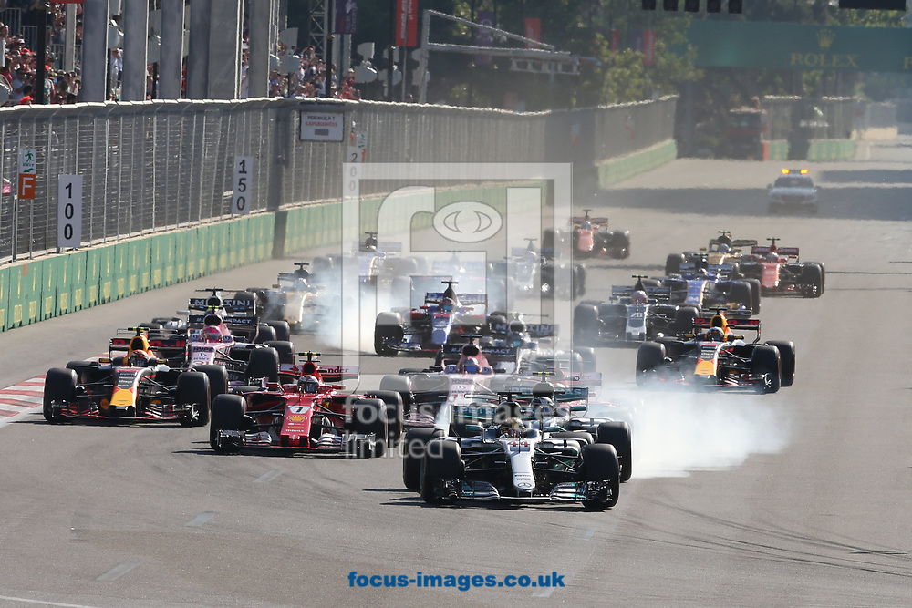 The start of the Azerbaijan Formula One Grand Prix at Baku City Circuit, Baku<br /> Picture by EXPA Pictures/Focus Images Ltd 07814482222<br /> 25/06/2017<br /> *** UK &amp; IRELAND ONLY ***<br /> <br /> EXPA-EIB-170625-0050.jpg