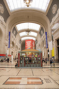 Italy, Milan, Interior of the central train station