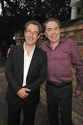 Left to right, BEN ELTON and ANDREW LLOYD-WEBBER at the annual Sir David & Lady Carina Frost Summer Party in Carlyle Square, London SW3 on 5th July 2007.<br />