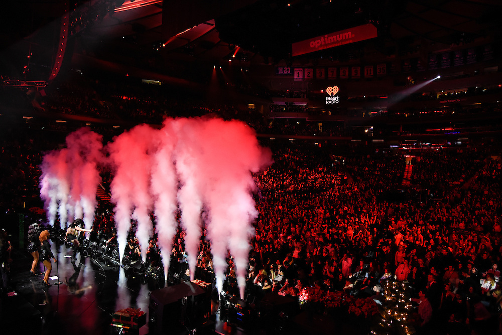 Photos of Demi Lovato performing live at iHeartRadio Jingle Ball 2015, hosted by Z100 New York at Madison Square Garden, NYC on December 11, 2015. © Matthew Eisman/ iHeartRadio. All Rights Reserved