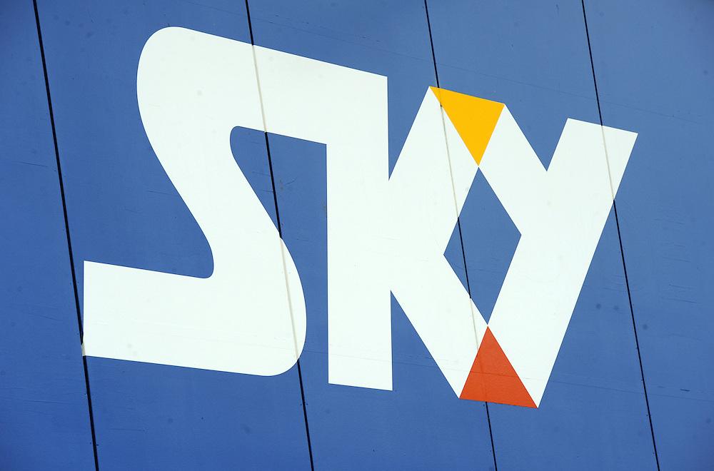 Sky Television sign, multi media, Hamilton, New Zealand, Wednesday, June 20, 2012. Credit:SNPA / Ross Setford