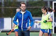 UTRECHT - assistent coach Steven van Tijn (Kampong) voor  de hockey hoofdklasse competitiewedstrijd dames:  Kampong-Laren . COPYRIGHT KOEN SUYK