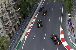 April 29, 2018 - Baku, Azerbaijan - Motorsports: World Championship; 2018; Grand Prix Azerbaijan, Grand Prix of Europe, Formula 1 2018 Azerbaijan Grand Prix, .#33 Max Verstappen (NDL, Red Bull Racing), #55 Carlos Sainz (ESP, Renault  (Credit Image: © Hoch Zwei via ZUMA Wire)