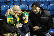 Carlisle - Saturday November 28th, 2009: Fans of Norwich City during the FA Cup second round match at Brunton Park, Carlisle. (Pic by Andrew Stunell/Focus Images)..