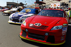 June 26, 2011; Sonoma, CA, USA;  General view of cars lined up on pit road before the Toyota/Save Mart 350 at Infineon Raceway.