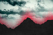 Digitally manipulated silhouettes of mountains with digital effects<br /> Redbubble Prints: http://rdbl.co/2s84tY8<br /> Society6 products: http://bit.ly/2r64JXe
