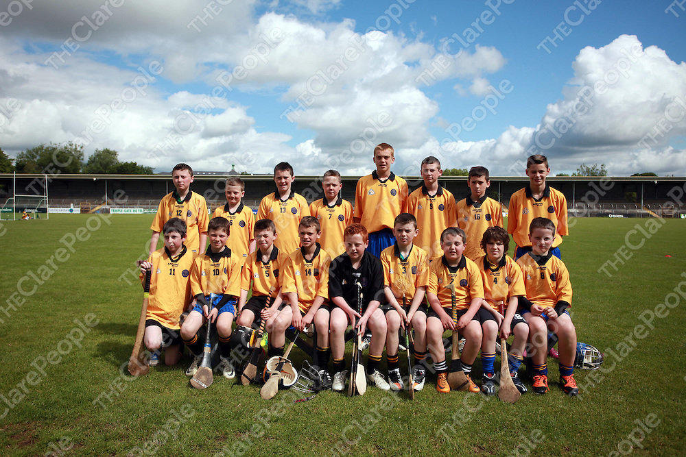 Clonmoney at the Cumann na mBunscol hurling and camogie finals in Cusack Part on Wednesday.<br /> Photograph by Press 22