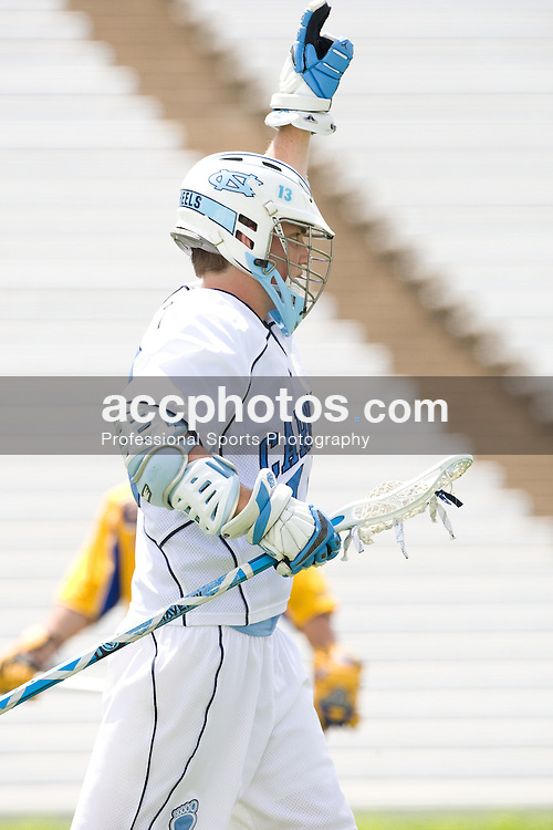 19 April 2008: North Carolina men's lacrosse attackman Gavin Petracca (14) during a 13-9 win over the Hofstra Pride at Kenan Stadium in Chapel Hill, NC.