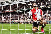 ROTTERDAM - Feyenoord - Vitesse , Voetbal , Seizoen 2015/2016 , Eredivisie , De Kuip , 23-08-2015 , Speler van Feyenoord Colin Kazim-Richards baalt van gemiste kans
