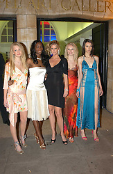 Centre Model RACHEL HUNTER (in black) with contestants from her TV show 'Make me a Supermodel' SAM ROWLEY, ANTOINETTE WILLIAMS, JOANNE DOWNES and EMILY MANN at the Art Plus Dance Party 2005 - an evening of live dance, film and partying held at the Whitechapel Art Gallery, 80-82 Whitechapel High Street, London on 21st March 2005.<br />