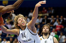 Dirk Nowitzki of Germany during basketball game between National basketball teams of Germany and Spain at FIBA Europe Eurobasket Lithuania 2011, on September 7, 2011, in Siemens Arena,  Vilnius, Lithuania. Spain defeated Germany 77 - 68. (Photo by Vid Ponikvar / Sportida)