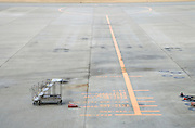 place where a airplane has to stand for when docking at a gate Narita International airport Tokyo