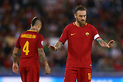 September 12, 2017 - Rome, Italy - Daniele De Rossi of Roma  during the UEFA Champions League Group C football match between AS Roma and Atletico Madrid on September 12, 2017 at the Olympic stadium in Rome. (Credit Image: © Matteo Ciambelli/NurPhoto via ZUMA Press)