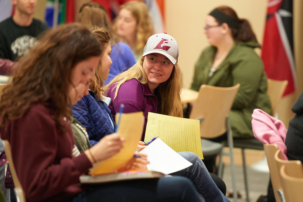 Activity; Reception; Teaching; Buildings; Centennial; Location; Inside; Classroom; Objects; People; Diversity; Spring; March; Student Students; Time/Weather; day; Type of Photography; Candid; UWL UW-L UW-La Crosse University of Wisconsin-La Crosse; Woman Women; Northwoods elementary
