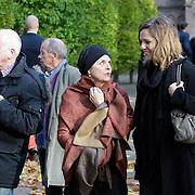NLD/Laren/20121031 - Uitvaart Joop Stokkermans, Nelleke van der Krogt en partner