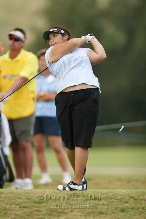 February 17, 2006; Kahuku, HI - Christie Cano tees off during the second round at the LPGA SBS Open at Turtle Bay Resort...Mandatory photo credit: Darrell Miho.© Darrell Miho