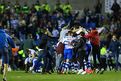 Reading players get swamped by the fans as the full time whistle blows - Mandatory by-line: Jason Brown/JMP - 16/05/2017 - FOOTBALL - Madejski Stadium - Reading, England - Reading v Fulham - Sky Bet Championship Play-off Semi-Final 2nd Leg