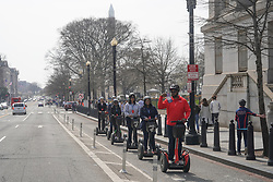 Segway riders in Washington DC in the United States. From a series of travel photos in the United States. Photo date: Thursday, March 29, 2018. Photo credit should read: Richard Gray/EMPICS