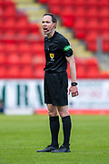 Referee Colin Steven during the Ladbrokes Scottish Premiership match between St Johnstone and Motherwell at McDiarmid Stadium, Perth, Scotland on 11 May 2019.
