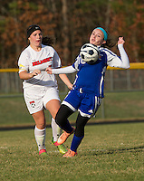 Belmont versus Gilford NHIAA Division III first round soccer tournament at Belmont High School.  Karen Bobotas/for the Laconia Daily Sun