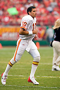 KANSAS CITY, MO - SEPTEMBER 10:  Quarterback Trent Green #10 of the Kansas City Chiefs during a game against the Cincinnati Bengals on September 10, 2006 at Arrowhead Stadium in Kansas City, Missouri.  The Bengals won 23 to 10.  (Photo by Wesley Hitt/Getty Images)***Local Caption***Trent Green