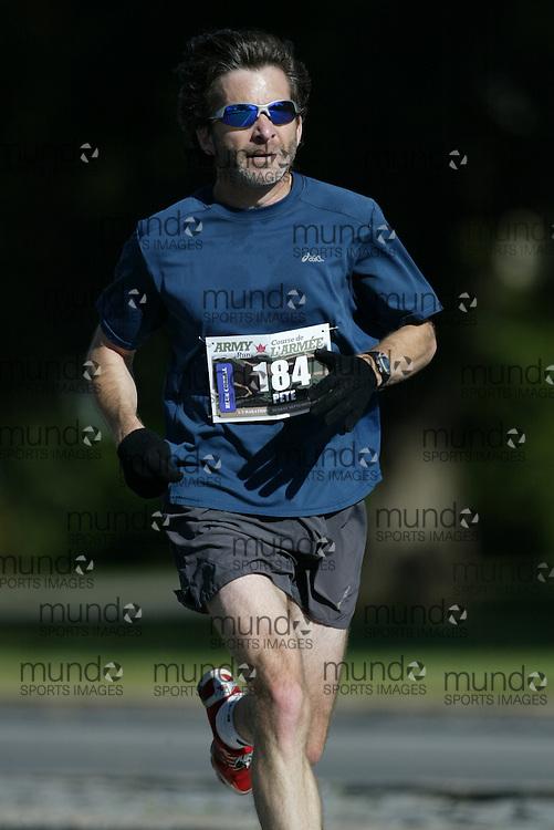 "(Ottawa, Ontario -- 20 Sep 2009) PETE QUINN of Ottawa competing in the Army Run half-marathon in Ottawa. [Photo credit should read ""Sean Burges / Mundo Sport Images""]"