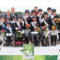 Para Dressage Team Competition Prize Giving