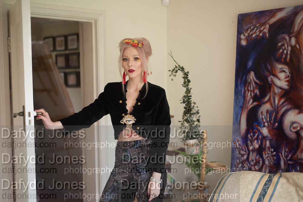 EWA  WILCZYNSKI in her studio. London. 4 February 2016