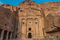 Petra , Jordan - May 10, 2013:  Urn Tomb in Nabatean Petra Jordan middle east