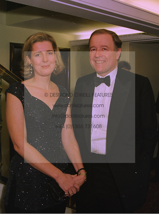 MR & MRS JONATHAN AGNEW he is the art dealer, at a ball in London on December 18th 1997.MEI 12