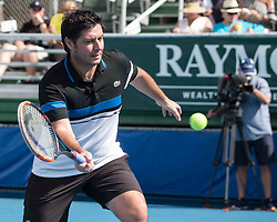 November 5, 2017 - Delray Beach, Florida, US - Tennis Coach SEBASTIEN GROSJEAN on court at the Delray Beach Stadium and Tennis Center in Florida during the 2017 Chris Evert/ Raymond James Pro-Celebrity Tennis Classic. Chris Evert Charities has raised more than $23 million in an ongoing campaign for Florida's most at-risk children. (Credit Image: © Arnold Drapkin via ZUMA Wire)