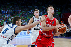 Aleksej Nikolic of Slovenia vs Bogdan Bogdanovic of Serbia during the Final basketball match between National Teams  Slovenia and Serbia at Day 18 of the FIBA EuroBasket 2017 at Sinan Erdem Dome in Istanbul, Turkey on September 17, 2017. Photo by Vid Ponikvar / Sportida