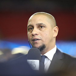 Juventus v Real Madrid UEFA Champions League final 2 June 2017; former Real player, Roberto Carlos, during the Juventus v Real Madrid UEFA Champions League final training session at the Principality Stadium, Cardiff<br /> <br /> &copy; Chris McCluskie | SportPix.org.uk