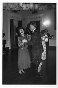 Emmie Foot and Earl Castle Stewart dancing at the Pink Champange Ball 30/08/86, ONE TIME USE ONLY - DO NOT ARCHIVE  © Copyright Photograph by Dafydd Jones 66 Stockwell Park Rd. London SW9 0DA Tel 020 7733 0108 www.dafjones.com