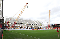 General view of the new West Stand being erected at Ashton Gate - Mandatory by-line: Paul Knight/JMP - Mobile: 07966 386802 - 05/12/2015 -  FOOTBALL - Ashton Gate Stadium - Bristol, England -  Bristol City v Blackburn Rovers - Sky Bet Championship