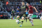 Forest Green Rovers forward (on loan from Celtic) Jack Aitchison (29)  controls the ball during the EFL Sky Bet League 2 match between Northampton Town and Forest Green Rovers at the PTS Academy Stadium, Northampton, England on 14 December 2019.