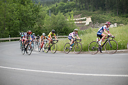 Amanda Spratt (AUS) of Orica Scott Cycling Team rides in the chasing group during Stage 3 of the Emakumeen Bira - a 77.6 km road race, starting and finishing in Antzuola on May 19, 2017, in Basque Country, Spain. (Photo by Balint Hamvas/Velofocus)