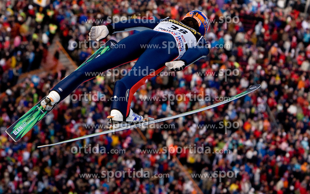 Peter Prevc of Slovenia competes during First round of the FIS Ski Jumping World Cup event of the 58th Four Hills ski jumping tournament, on January 3, 2010 in Bergisel, Innsbruck, Austria.(Photo by Vid Ponikvar / Sportida)
