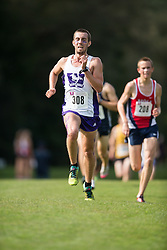 Andrew McColl of the Western Mustangs  (308) competes in the men's 8k  at the 2015 Western International Cross country meet in London Ontario, Saturday,  September 26, 2015.<br /> Mundo Sport Images/ Geoff Robins