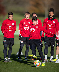 CARDIFF, WALES - Monday, November 18, 2019: Wales' Regan Poole during a training session at the Vale Resort ahead of the final UEFA Euro 2020 Qualifying Group E match against Hungary. (Pic by David Rawcliffe/Propaganda)